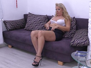 Micro mini skirt milf join. was