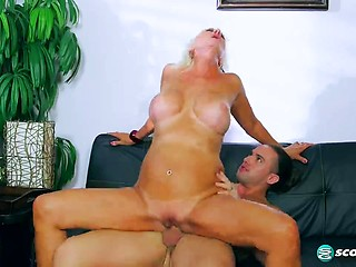 Sex young guy Mature with woman