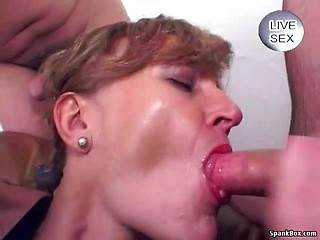 Hot milf cum swallowing