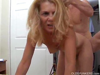 Blond milf facial